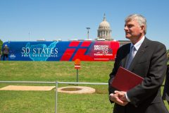 Oklahoma City, Okla.: Stop #18 – Some 5,100 Oklahomans gathered in the south parking lot of the capitol in Oklahoma City on April 27, 2016, as part of the Decision America Tour.