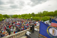 Frankfort, Ky.: Stop #22 – Some 5,800 Kentucky residents gathered at the capitol's Front Terrace in Frankfort on May 4, 2016, as part of the Decision America Tour.