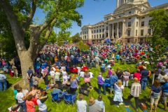 Pierre, S.D.: Stop #25 – Some 2,400 South Dakota citizens gathered on the front steps of the capitol in Pierre on May 24, 2016, as part of the Decision America Tour.
