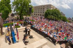 Springfield, Ill.: Stop #27 – Some 5,800 Illinois citizens gathered at the steps of the Lincoln Statue in Springfield on June14, 2016, as part of the Decision America Tour.