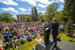 Cheyenne, Wyoming: Stop #35—Some 2,400 Wyoming citizens gathered at the Supreme Court Lawn in Cheyenne on Aug. 12, 2016, as part of the Decision America Tour.