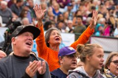 August 13, 2018: Monroe, Washington, residents gathered for music and prayer at Evergreen State Fairground and Speedway for the last stop of the Decision America Pacific Northwest Tour.