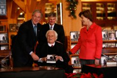 "In 2010, the Billy Graham Library hosts former President George W. Bush and first lady Laura Bush to sign copies of their respective memoirs, ""Decision Points"" and ""Spoken From the Heart."""