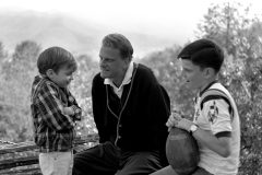 "Billy Graham at home in Montreat, North Carolina, in 1965 with sons Nelson Edmond ""Ned"" (left) and William ""Franklin"" III (right)."