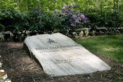 """The bottom of Ruth Bell Graham's grave maker reads, """"End of Construction. Thank you for your patience."""""""