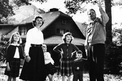 "The Graham family in the mid-1950s, left to right: Anne Morrow, Ruth, Ruth Bell, Virginia Leftwich ""Gigi,"" William ""Franklin"" III, Billy."