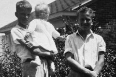 Billy Graham, the oldest of four, holds his baby sister, Jean Graham Ford. Jean is Graham's only surviving sibling.
