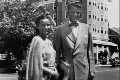 In 1944, Ruth and Billy Graham live in Western Springs, Illinois, during Billy's pastorate at Village Baptist Church, 20 miles outside Chicago.