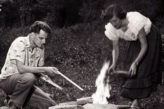 In anticipation of the birth of their first child, the Billy and Ruth Graham move to Montreat, North Carolina, in 1945. The secluded mountain home offered respite and privacy as Billy's ministry expanded.