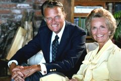 Billy and Ruth Graham at their Montreat, North Carolina, home in 1982.