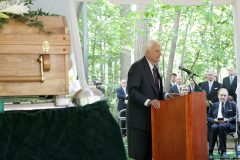 On June 17, 2007, Billy Graham speaks at the interment for Ruth Bell Graham, his wife of nearly 64 years.