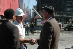 Franklin Graham meets New York workers at Ground Zero.