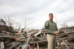 Franklin Graham surveys Hurricane Katrina damage in New Orleans, putting into place an action plan for Samaritan's Purse to immediately begin work. (2005)