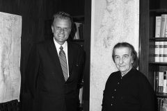 In addition to meeting with 12 U.S. presidents, Billy Graham also met with several international leaders, including Israeli Prime Minister Golda Meir, pictured here in 1969.