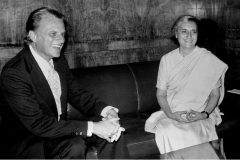 In November 1972, Billy Graham meets with Indian Prime Minister Indira Gandhi. Over the course of 21 years, Graham preached to some 1.9 million people in India.
