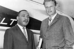 """Had it not been for the ministry of my good friend, Dr. Billy Graham, my work in the civil rights movement would not have been as successful as it has been,"" said Martin Luther King Jr. (photo: Chicago, 1952)"