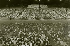 In 1952, some 360,000 people attend Billy Graham's three-week Crusade in Jackson, Mississippi.