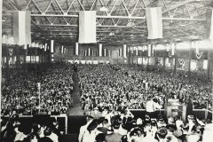 "In 1953, more than a year before the Supreme Court decision banning racial discrimination, Billy Graham holds a Crusade in Chattanooga, Tennessee, without segregated seating areas. ""Jesus was a man,"" Graham later said. ""He was not a white man. He was not a black man….Christianity is not a white man's religion."""