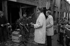 In 1972, Billy Graham visits bombed-out homes in Belfast, Northern Ireland.