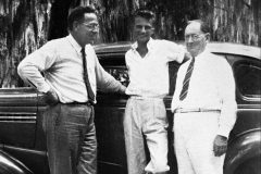 Rev. Dr. John Minder (left), dean of Florida Bible Institute and the minister who performed the marriage ceremony of Billy and Ruth Graham, and Pastor Cecil Underwood (right), who ordained Billy Graham as a Baptist minister in 1939, both play influential roles in Graham's days of early ministry.