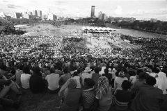 Billy Graham visits Uhuru Park, in Nairobi, Kenya, in 1976.