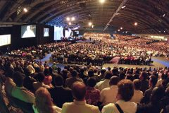 During the summer of 2000, the Billy Graham Evangelistic Association holds its third conference for itinerant evangelists, Amsterdam 2000, focusing on new methods of evangelism for the 21st century. More than 10,000 participants from 209 countries and territories gather for 900 plenary and teaching seminars, with simultaneous interpretation offered in 28 languages. Previous conferences were held in Amsterdam in 1983 and 1986.