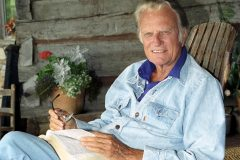"Although he preaches on six continents throughout his lifetime, Billy Graham remains a ""country"" boy at heart, always returning to North Carolina, where he will be buried."