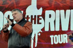 Franklin Graham shares a message of hope with young people in Edmonton, the final stop on the 2010 Rock the River Tour West, an evangelistic summer concert series through Western Canada.