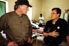 Franklin Graham in Sudanese hospital.