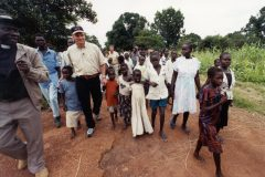 Franklin Graham tours Sudan, a country that receives relief aid from Samaritan's Purse.