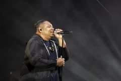Hip hop artist Tedashii performing at the Kaua`i Celebration with Will Graham in May 2019.