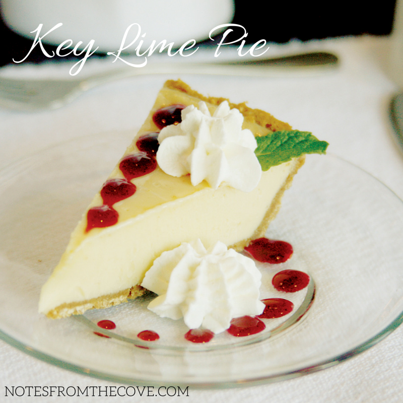 Key Lime Pie with branding