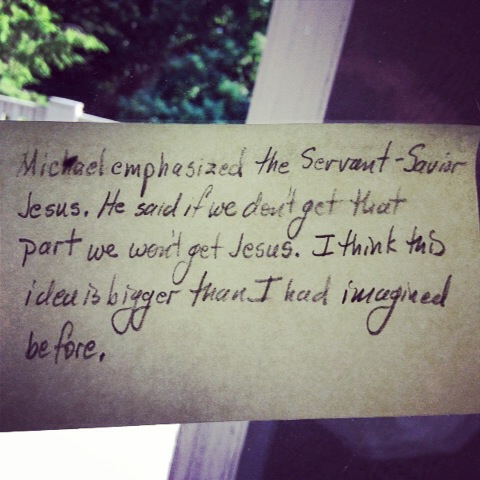 Reflections from participants of Michael Card IBT June 2014