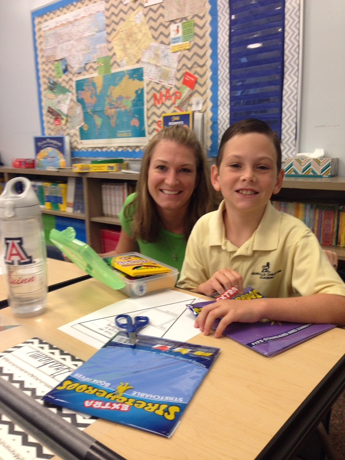 quinn with teacher