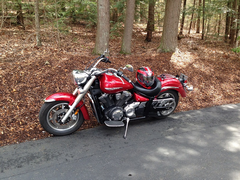 motorcycle of visitor at The cove April 2015