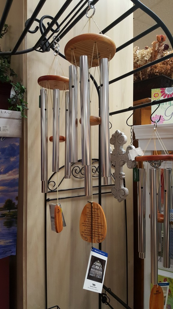 Outdoor wind chimes, $42. (Assorted styles and prices available.)