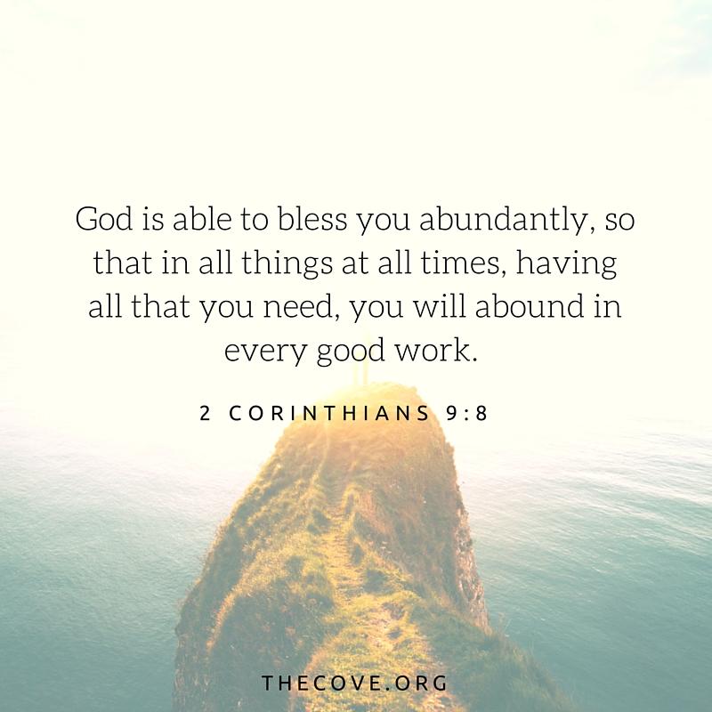 2 Corinthians 9 8 ESV