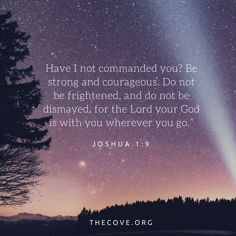 joshua 1 9 esv notes from the cove