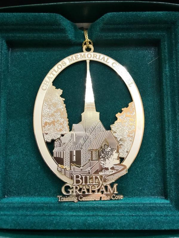 Gold Chapel Ornament