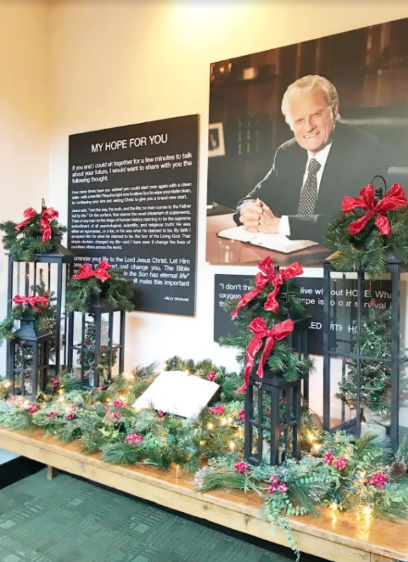 Billy Graham and decor
