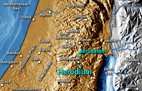 Image result for herodium on map