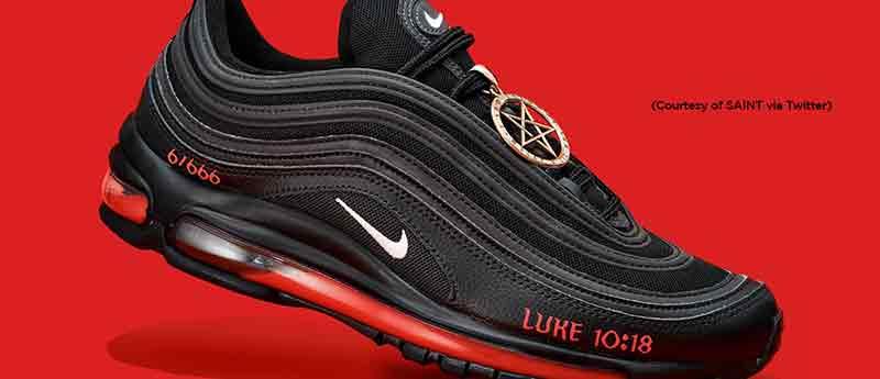 black satan shoes feature