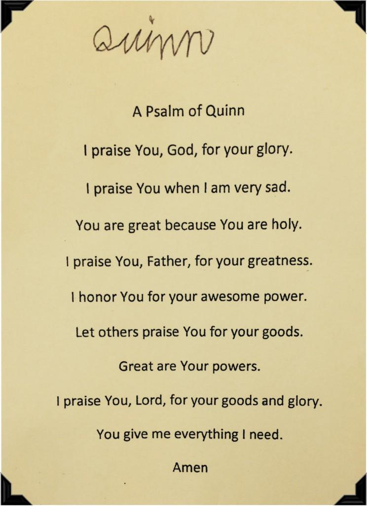 Psalm of Quinn Portrait