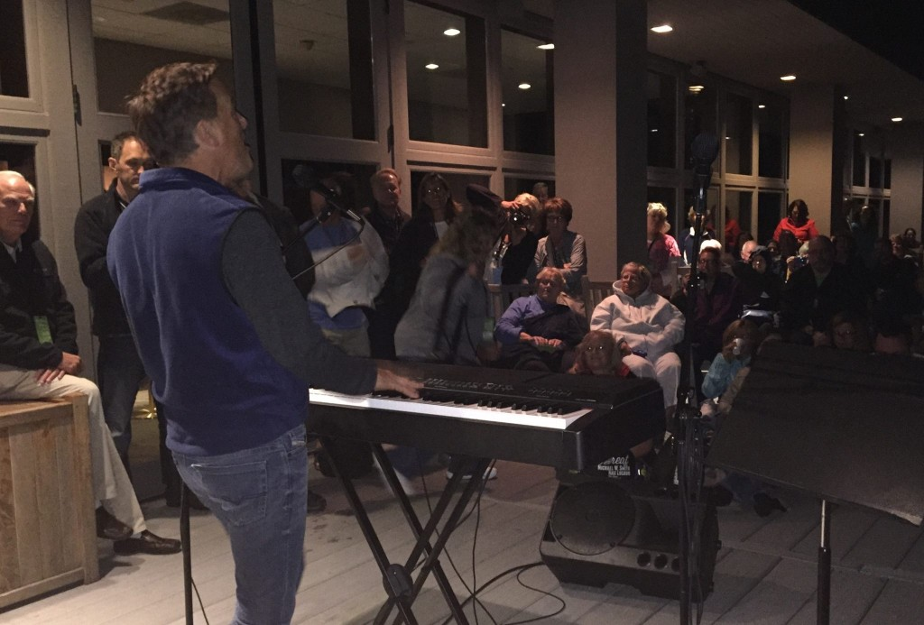 Michael W Smith doing an casual concert on TC deck on September 12 2015