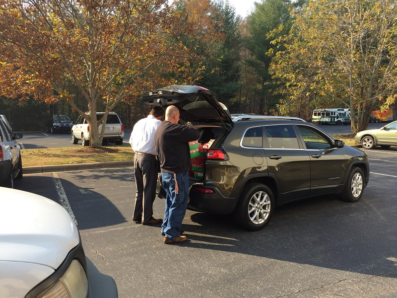 OCC drop off from Tennessee singles group from church put together 2016