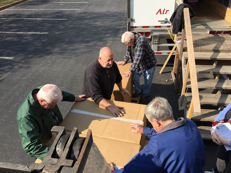 praying over the 200 boxes from daystar machining 2016